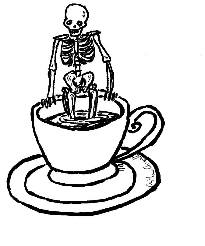 Tazzina scheletro