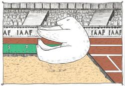 Orsetta saltatrice in lungo