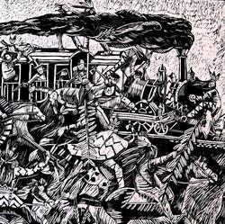 L'attacco indiano al treno