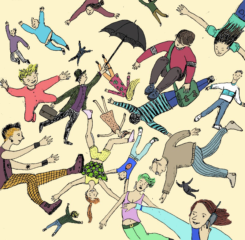 Flying People (versione a colori)