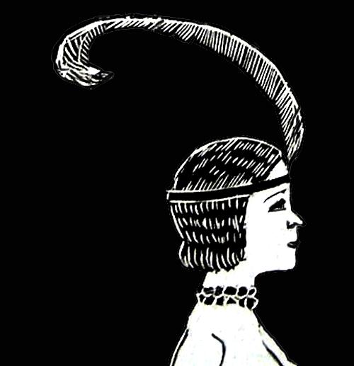 Dama con piuma