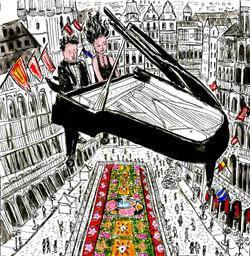 Pianisti sulla Grand Place