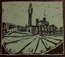 Stampa di Piazza del Campo