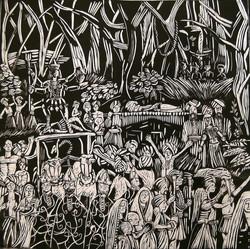 La processione funebre