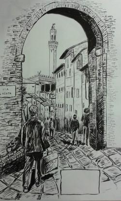 Via S.Agata, Siena