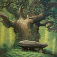 Totoro Forest project. Painting for a charity auction. Copyright Luc Desmarchelier.