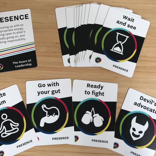 PRESENCE cards get you thinking about your leadership stance - what is the best way to face this?