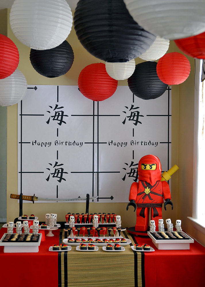 Ninjago birthday dessert table