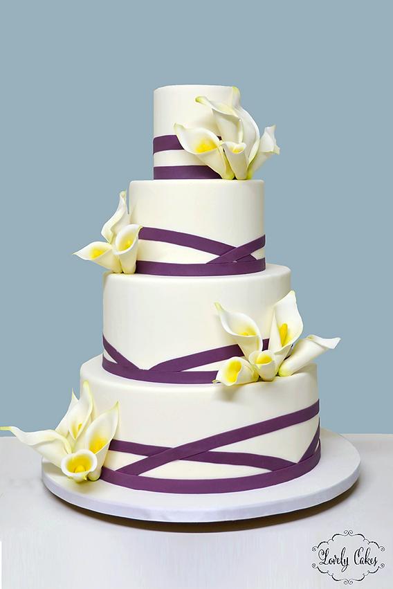 Lovely Cakes Wedding Cakes - Calla Lilly Wedding Cake