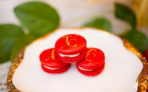 custom monogram macarons for a wedding