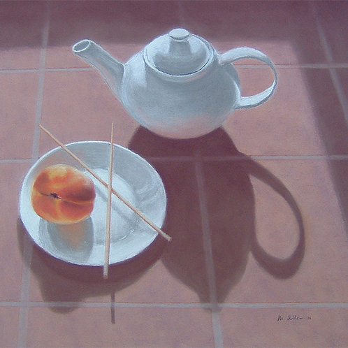 White Teapot and Peach