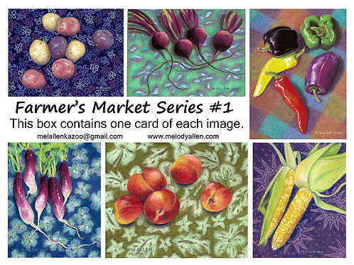 Farmers Market #1 note cards
