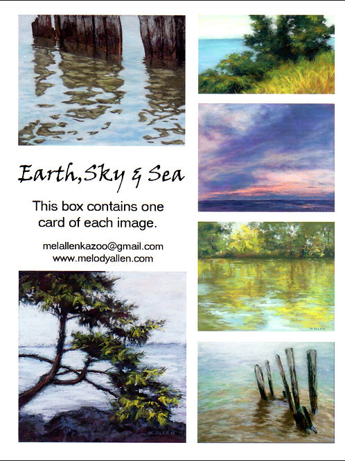 Earth, Sky and Sea notecards