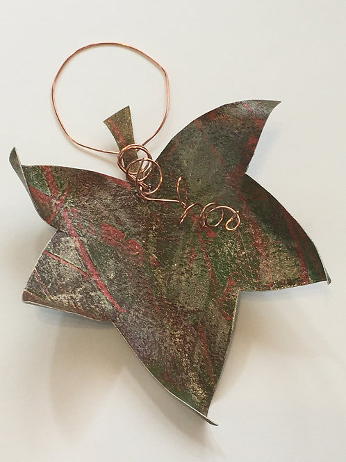 Sweet Gum leaf ornament