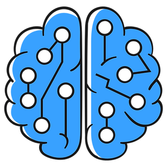 liine drawing of a brain