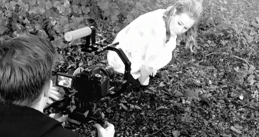 Philip Plower filming the trailer for Welcome to Wonderland in Lurganboy Forest