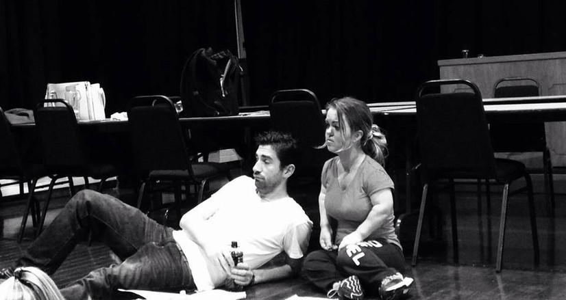 Hugo Rooney and Maresa McGovern in the rehearsal room!