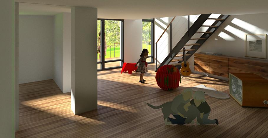 Nyt kælder-rum m lys & luft