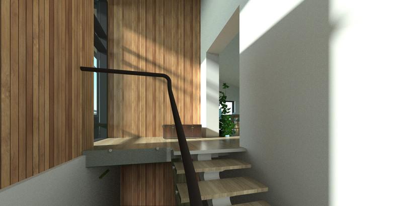 Entre og trappe