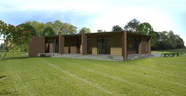 Villa med terrasse på 2 sider