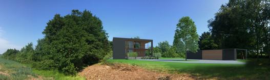 Villa i naturen m udsigt til flere sider