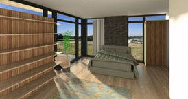 Soveværelse med altan