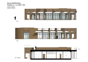 Hover ny klubhus facader & snit