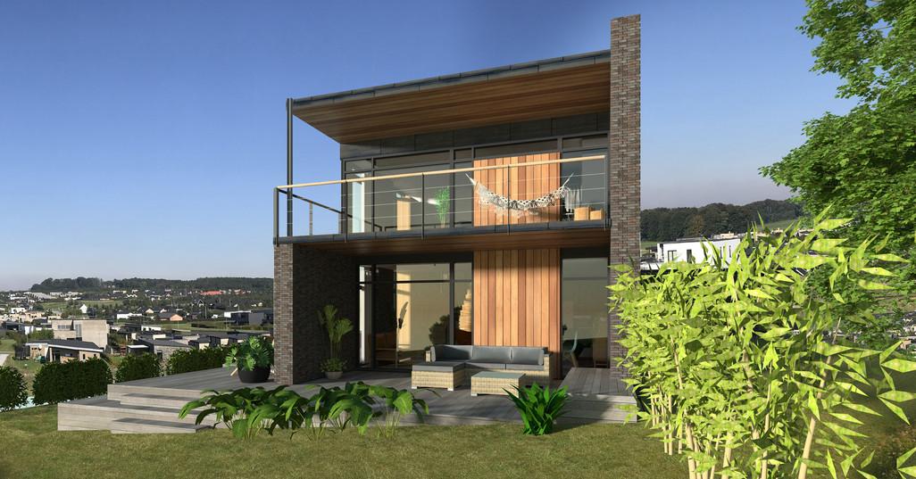 Villa med altan og udsigt