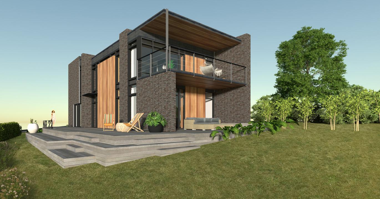 Moderne designvilla i 2plan