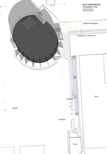 Hover ny klubhus arkitekt plan