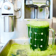 Green Juice in the making