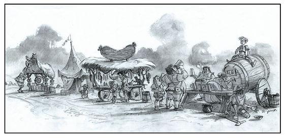 Dreamworks', SHREK_Story Sketch with Fai