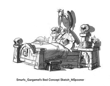Smurfs_Gargamel's Bed Concept Sketch_MSp