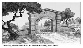 The Star-Front View of Nazareth Gate