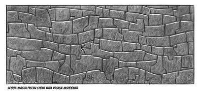 Machu Picchu Stone Wall Design_MSpooner.
