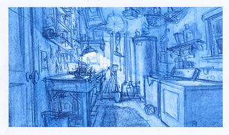 Lilo_Rough Concept Sketch of Laudry-Util