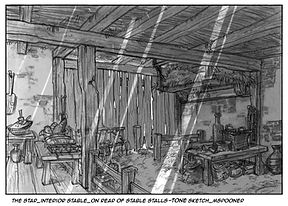The Star-Interior, Rear View of Stable with Tone
