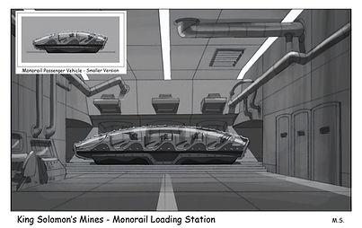 King Solomon's Mines - Monorail Loading