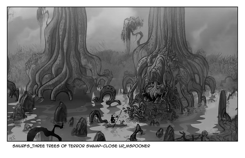 Smurfs_Tree Trees of Terror Swamp-Closeu