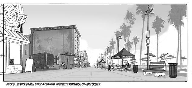 Venice Beach Strip Forward View Sketch A