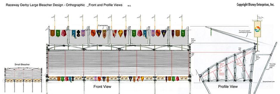 Raceway Derby Large Bleacher Design - Or