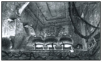 Rescue Rangers_Mayan Temple Concept Draw