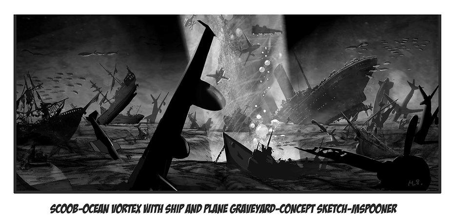 Ocean Vortex with Ship and Plane Graveya
