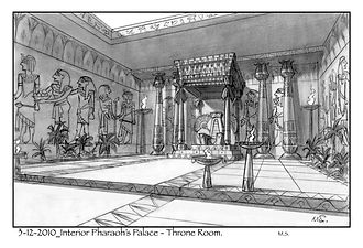 Interior Pharaoh's Palace - Throne Room.