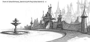 Front of School Entrance_Sketch.jpg