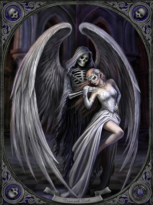 Dancing With Death Postcard
