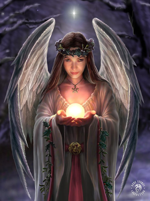 Yule Angel Postcard