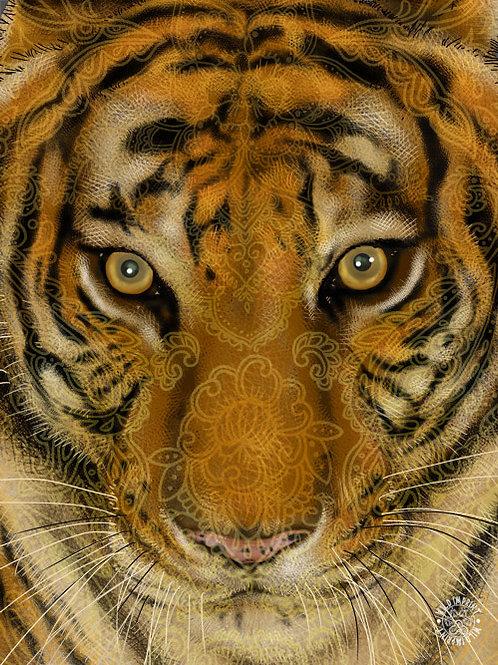 Tiger 3D Lenticular Print
