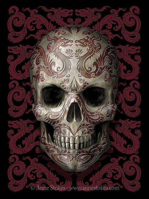 Oriental Skull Postcard