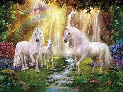 Waterfall Unicorn 3D Lenticular Print